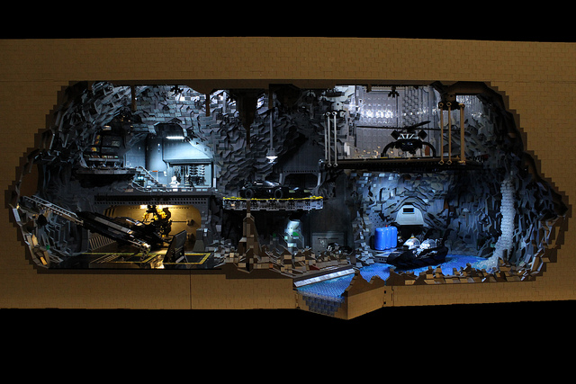 Incredible LEGO Batcave Built With 20,000 Pieces