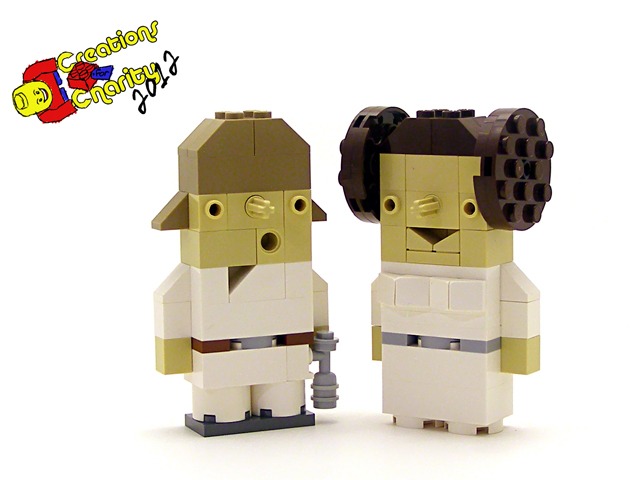 Luke and Leia Charity Characters by Tyler Clites / Legohaulic