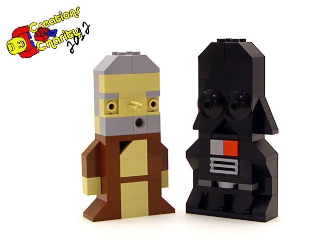 Ben and Darth Charity Characters by Tyler Clites / Legohaulic