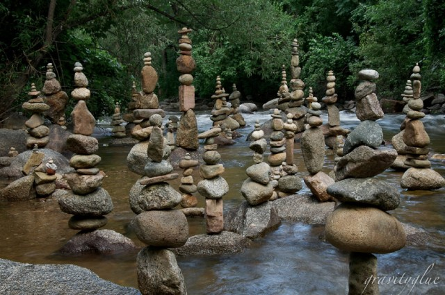 Incredibly Precarious Stacked Rock Sculptures Held With Gravity Glue