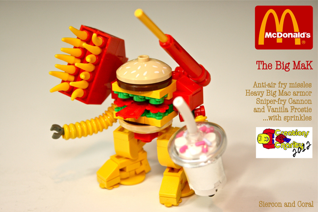 Lego Toy Food : The big mak a custom lego mcdonald s themed battlemech