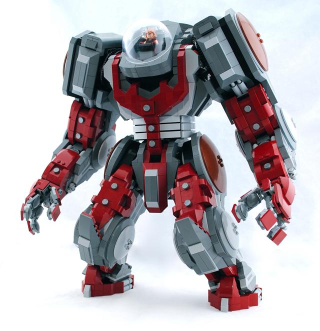Custom Built LEGO Atlas Mech & Marvel Juggernaut Minifigure