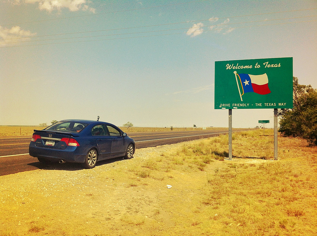 Welcome To Texas Sign - Texas, New Mexico Border photo by Brian DeFrees