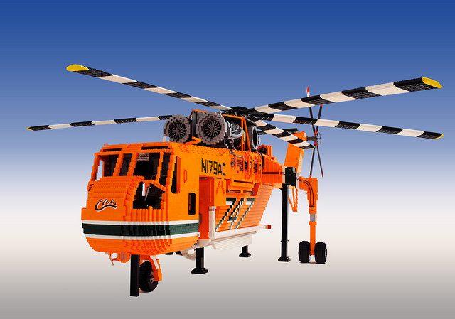 LEGO Erickson Air-Crane Elvis Helicopter