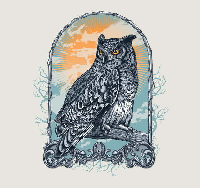 Twilight Owl by Rachel Caldwell