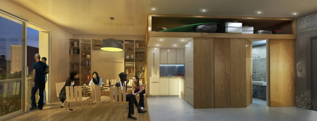 new york city unveils winner of micro apartment design competition