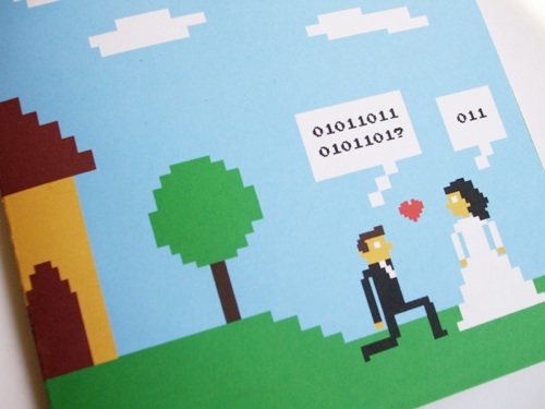 8-Bit Wedding Invitation