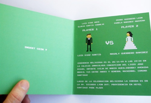 8 bit wedding invitation based 1980s atari games 8 bit wedding invitation stopboris Image collections