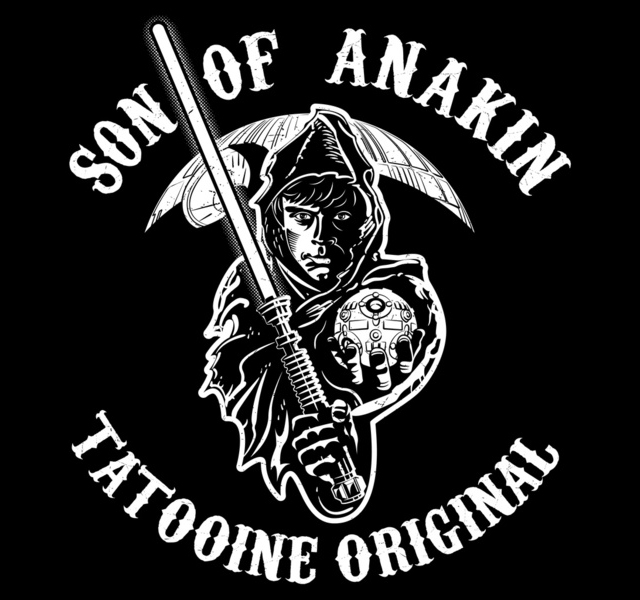 son of anakin a star wars meets sons of anarchy design rh laughingsquid com Sons of Anarchy Logo Font Sons of Anarchy Actor Dies