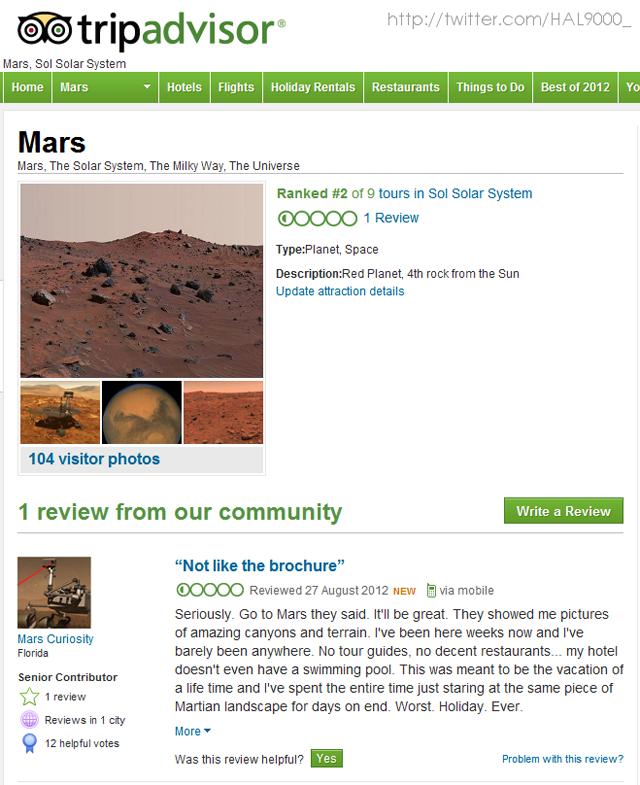 Mars Review on TripAdvisor
