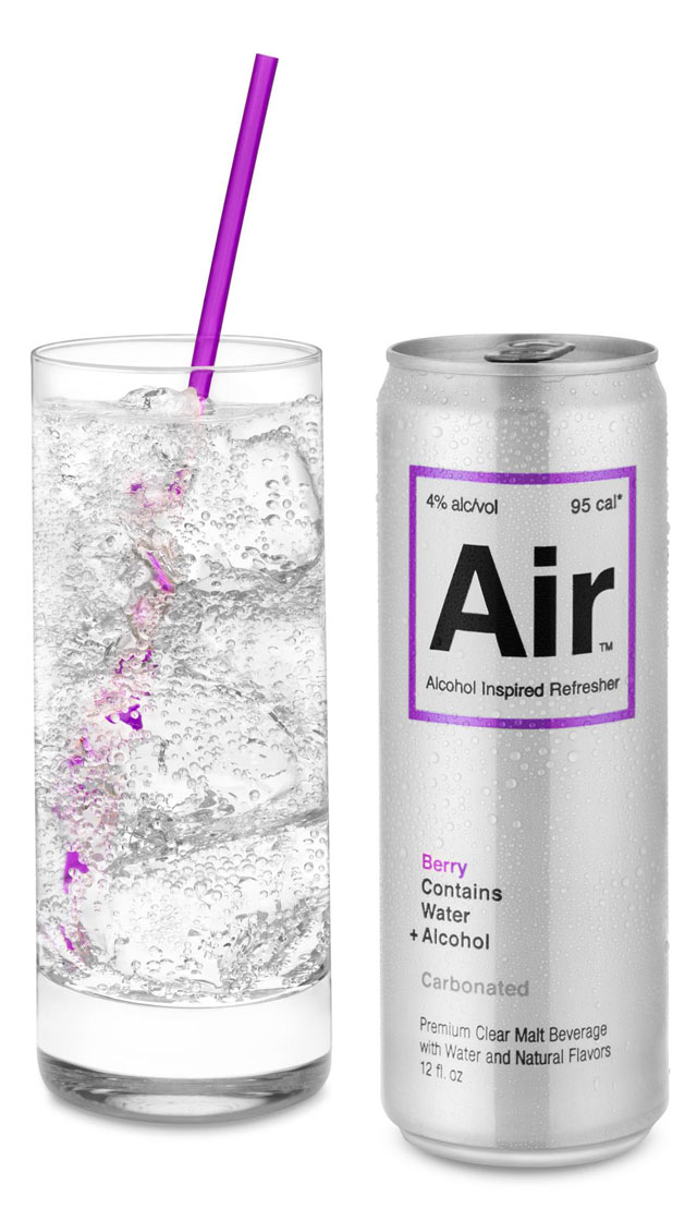 Air a sparkling beverage that combines water alcohol for Sparkling water mixed drinks