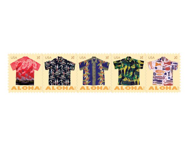 Aloha shirt Stamps