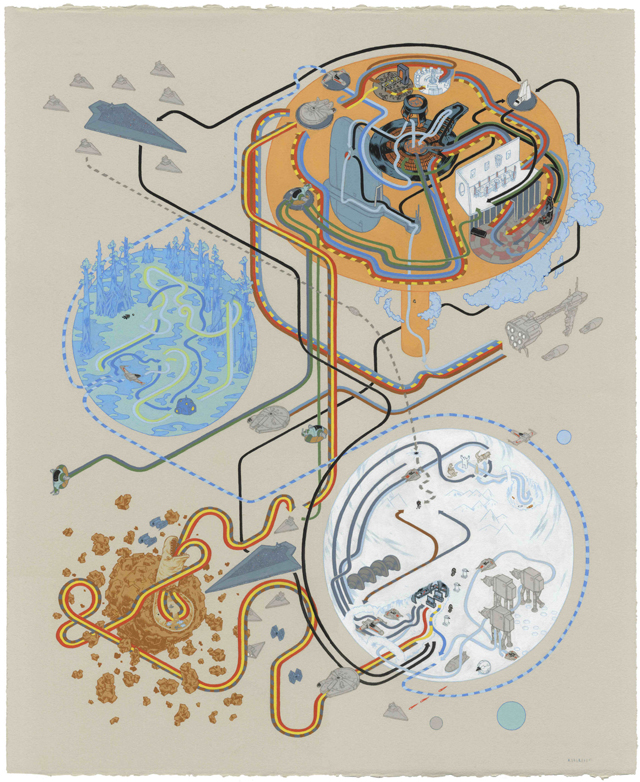 Star Wars Empire Strikes Back Map by Andrew DeGraff