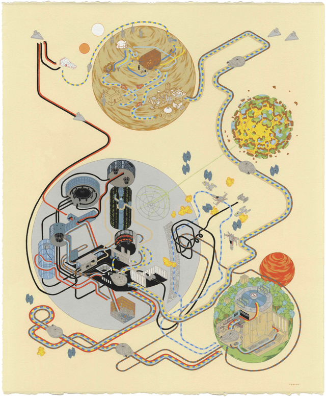 Star Wars A New Hope Map by Andrew DeGraff
