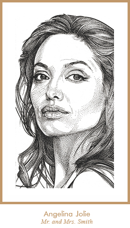Portraits: Pen and Ink, Stipple, Watercolor, Pointillism ...