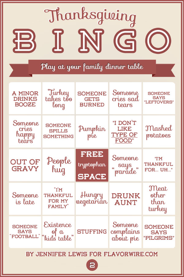 graphic regarding Holiday Bingo Printable named Thanksgiving Bingo Playing cards toward Participate in With Your Dysfunctional Family members