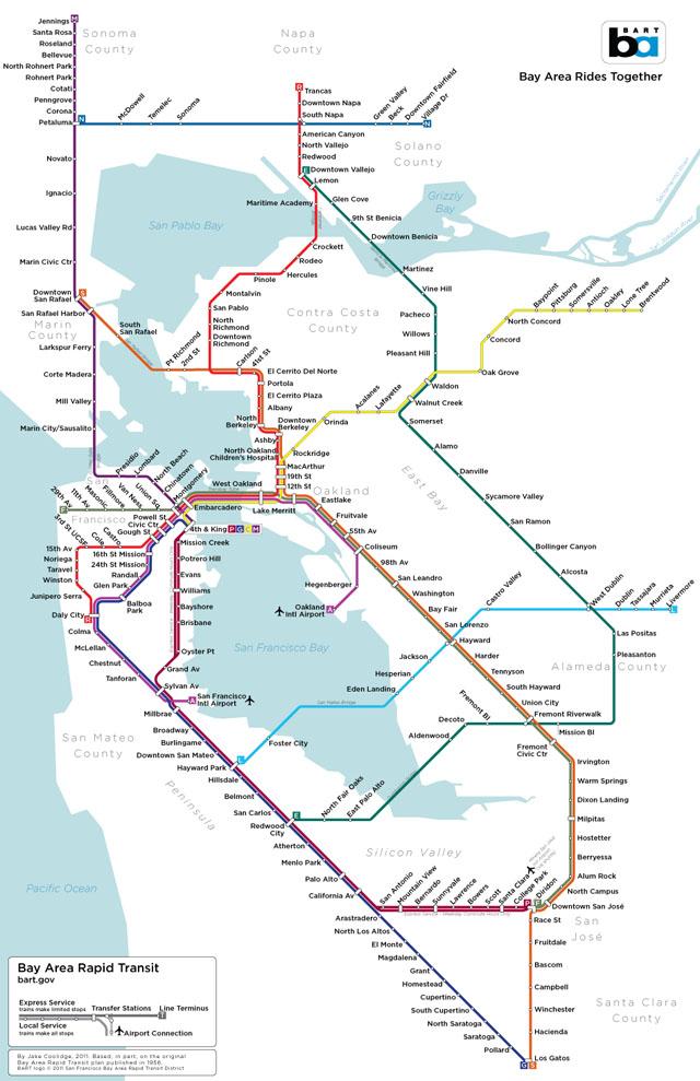 Imaginary BART Map by Jake Coolidge