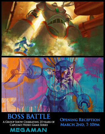 Mega Man Boss Battle Art Show