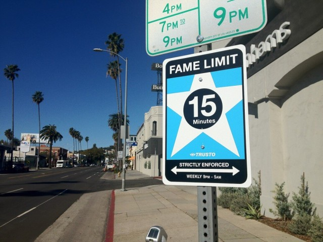 Fame Limit street sign by TrustoCorp