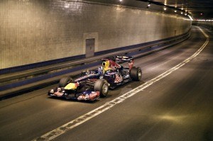 Red Bull Racing in Lincoln Tunnel