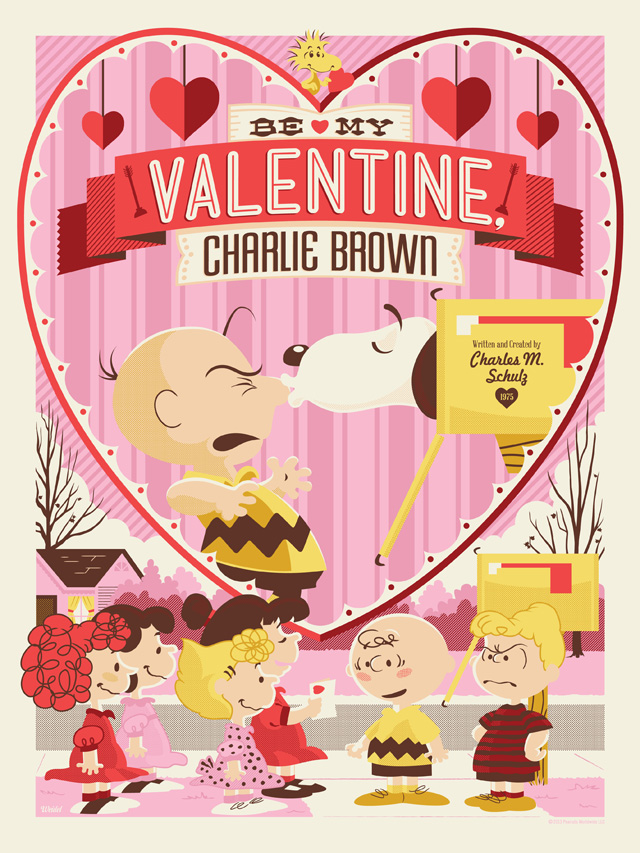 Be My Valentine, Charlie Brown Illustration by Jayson Weidel