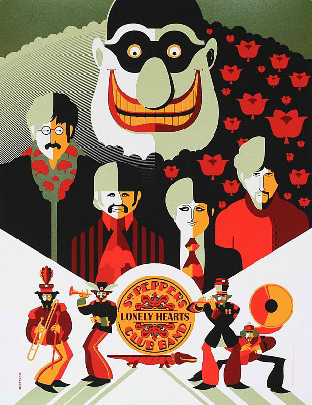 Beatles Yellow Submarine prints by Tom Whalen