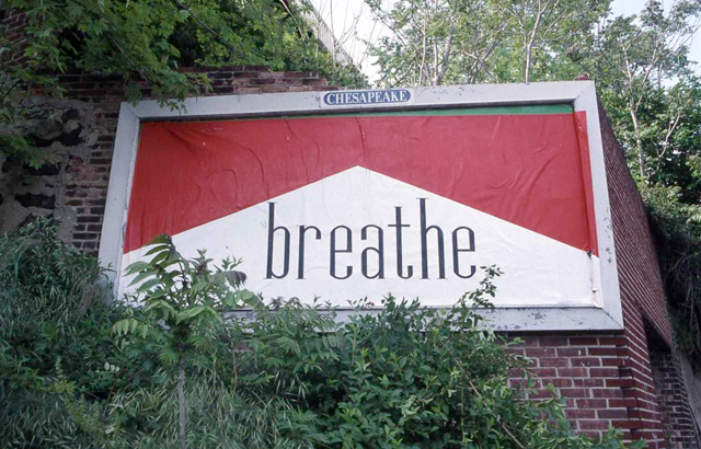 Breathe Mini Billboard by Ron English