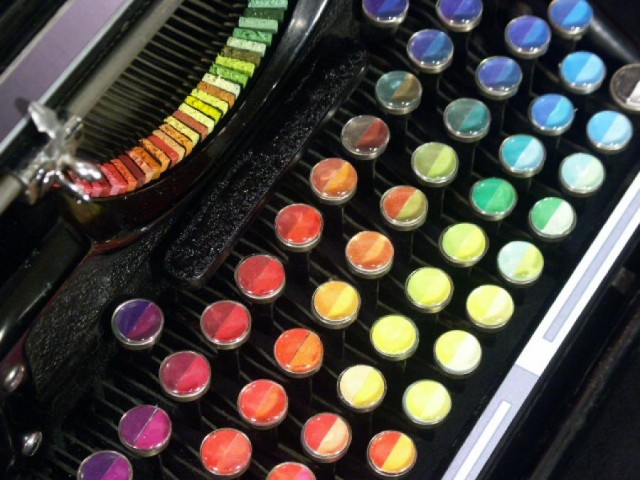 Chromatic Typewriter by Tyree Callahan