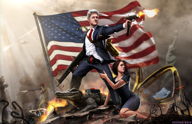 Bill Clinton the Lady Killer by Jason Heuser