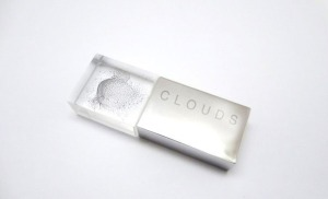 CLOUDS Data capsule with laser etched 3D pointcloud