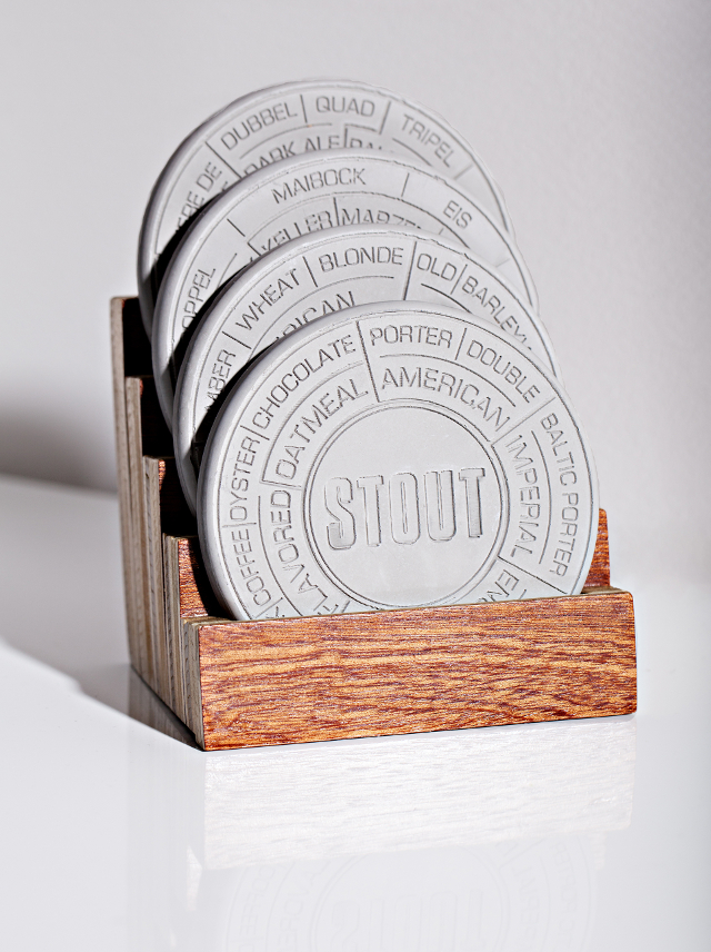 Concrete Beer Coaster Set by Pop Chart Lab