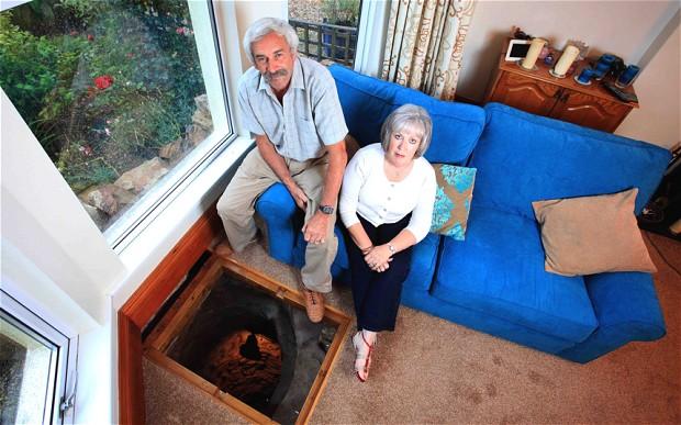 man finds a medieval well under his living room floor. Black Bedroom Furniture Sets. Home Design Ideas