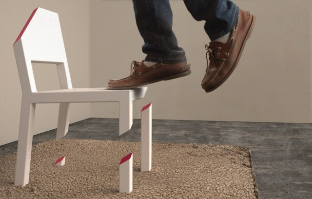 Cut Chair By Peter Bristol · U201c