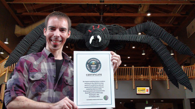 Giant Black Balloon Spider Sets World Record For Largest ...