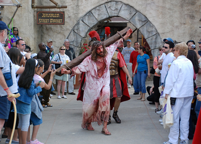 Bloody Jesus on the cross
