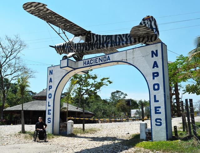 Escobaru0027s First Drug Trafficking Plane, Piper, Hangs At The Main Gate Of El  Parque Temático De La Hacienda Nápoles.