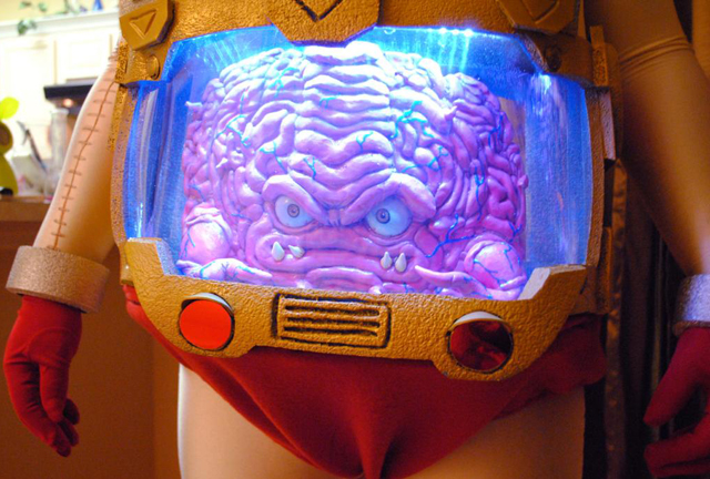 Custom Built Krang and His Android Body Costume