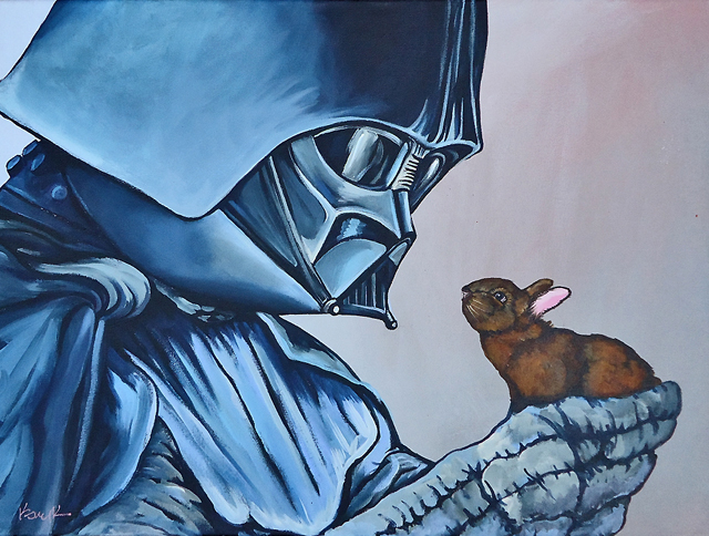 Darth Vader with Brown Bunny by Kelly Kerrigan
