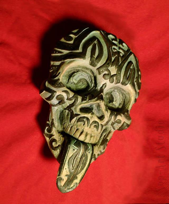 Tiki Skull by Christopher Soprano