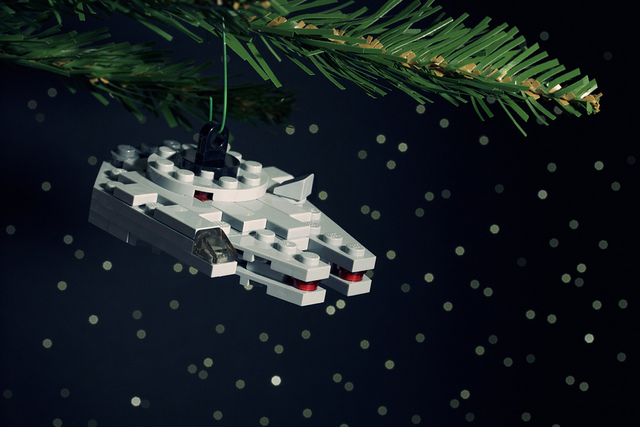 Millenium Falcon Ornament by Chris McVeigh