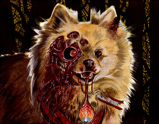 Fluffy Dead Pet Zombie by Rob Sacchetto