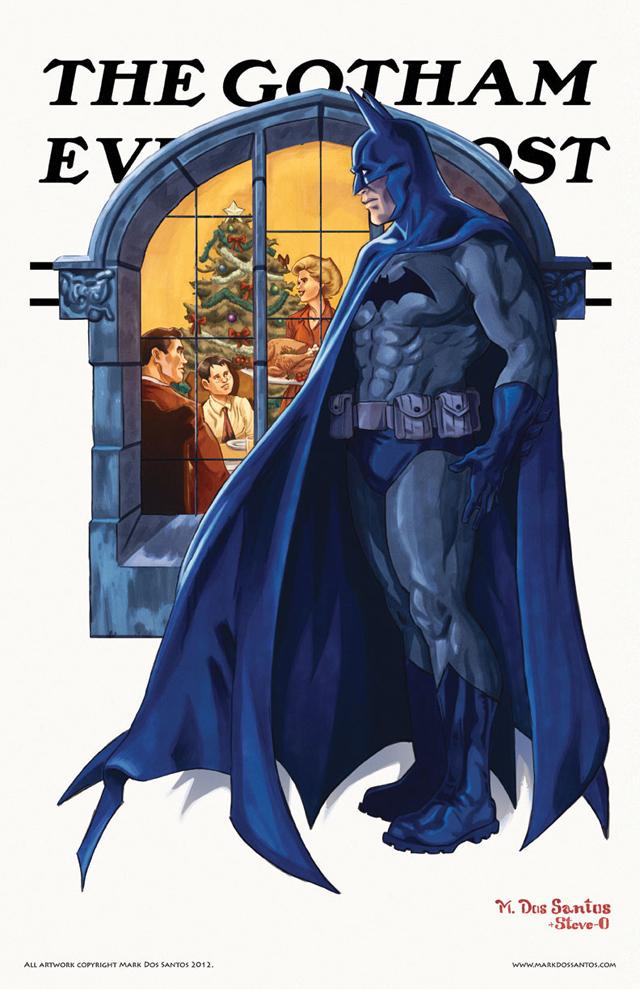 Gotham Evening Post (Christmas) by Mark Dos Santos