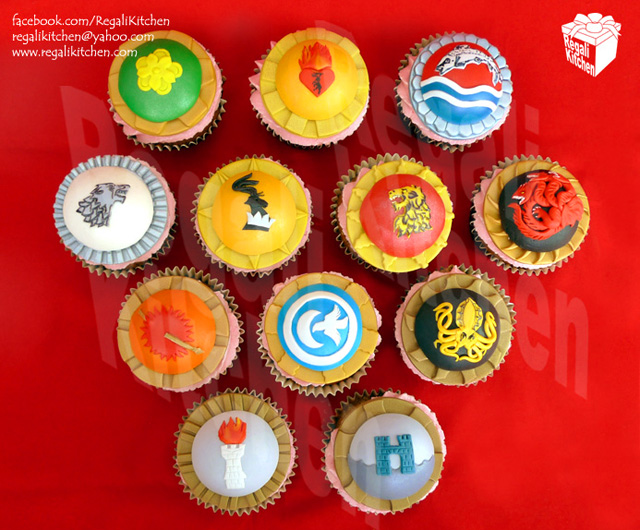 Game of Thrones Opening Sequence House Sigil Cupcakes