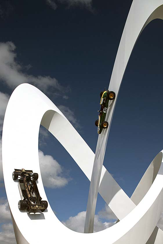 Lotus race car sculpture by Gerry Judah
