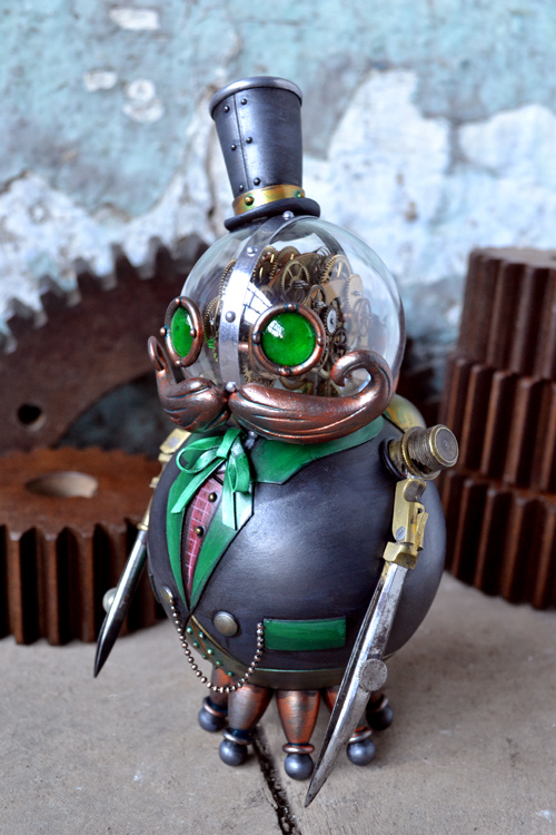 Phineaus Grock, A Steampunk Robot Toy by Doktor A