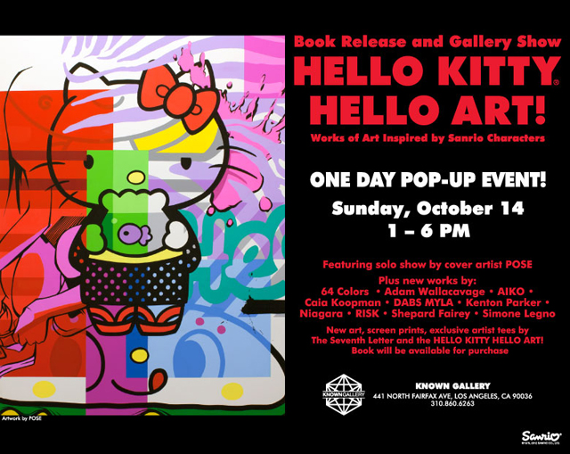Hello Kitty, Hello Art Show at Known Gallery