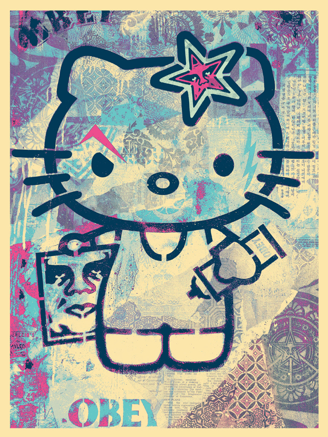 Hello Kitty by Shepard Fairey