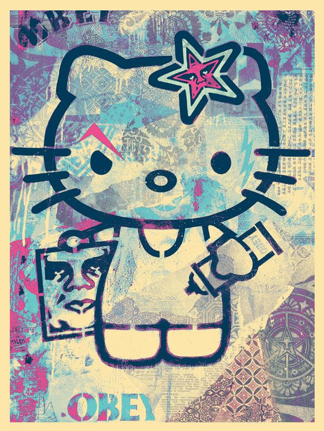 Hello Kitty by Shepard Fairey