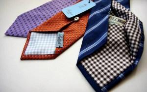 Hidden pocket neckties by Battisti Napoli