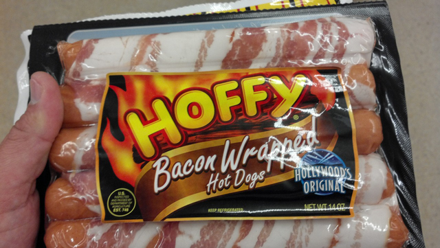 Packaged Bacon Wrapped Hot Dogs
